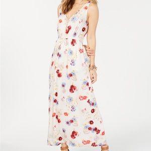 Lucky Brand Floral V-Neck Maxi Dress